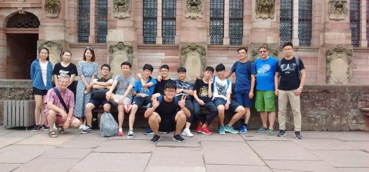 Ausflug mit den chinesischen Austauschschülern nach Heidelberg