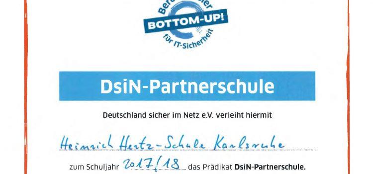 HHS wird Partnerschule von Deutschland sicher im Netz e. V.