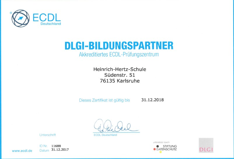 Zertifikate – Heinrich-Hertz-Schule Karlsruhe