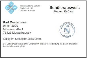 Neuer Schülerausweis an der HHS