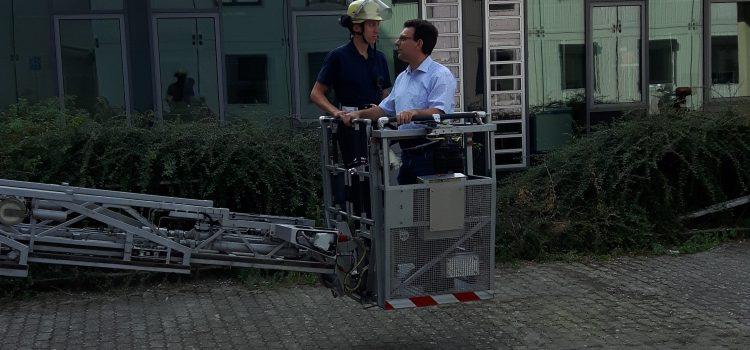 Karlsruher Feuerwehr prüft Sicherheit des neuen Nordflügels der HHS