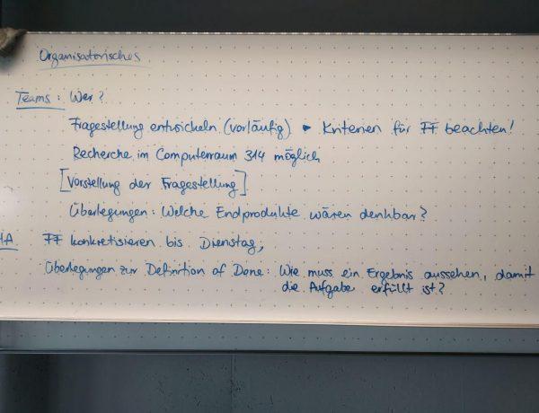 Arbeitsauftrag Forschungsfrage