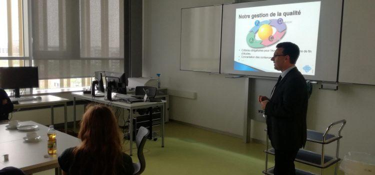 Gegenbesuch von Schülern der französischen Partnerschule aus St. Quentin